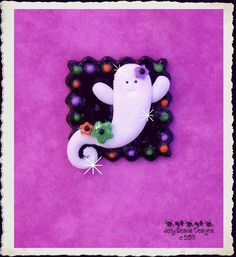 Glittlery Ghost polymer clay by jellybeadsdesigns on Etsy, $3.50