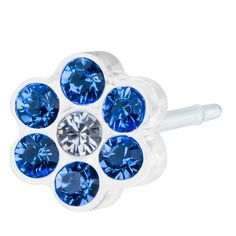 Blomdahl MP Daisy 5mm Sapphire/Crystal B