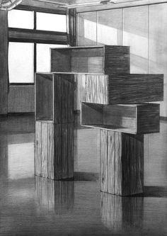 2017年度 多摩美術大学 環境デザイン学科 現役合格者再現作品:デッサン