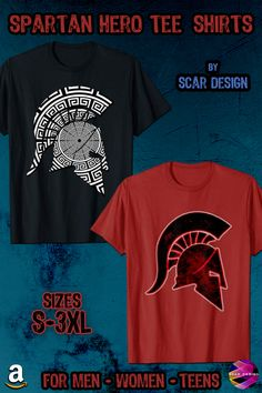 Pop Culture Geek, Gamer, Movie fans Tee Shirts, Posters and Gifts by Scar Design Warrior Helmet, Spartan Warrior, Christmas Gifts For Men, Best Gifts For Men, Gym Shirts, Cool T Shirts, Greek Warrior, Amazon Today, Clothing Apparel