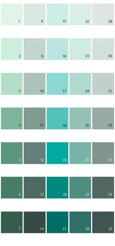 Behr Paint Colors - Colorsmart Palette 24:... 3) 480C-3 Aqua Bay....17) 490A-3 Sweet Rhapsody...18. 490B-4 Sea Life....19. 490B-5 Cozumel.....20. 490B-6 Emerald Coast.....24) 490C-3 Balmy Seas....25) 490D-4 Eucalyptus Leaf