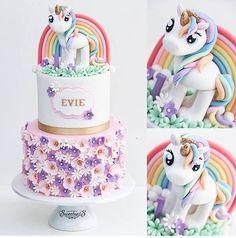 So cute I would feel bad eating it but my little girl would adore it - Motivtorten - My Little Pony Cumpleaños, My Little Pony Birthday, Unicorn Birthday Parties, Cake Birthday, 5th Birthday, Unicorn Head Cake, Unicorn Cake Topper, Unicorn Eyes, Rainbow Unicorn