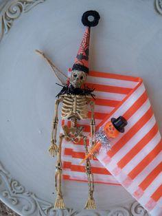 Skeleton Halloween Decorations by JeanKnee on Etsy, $6.00
