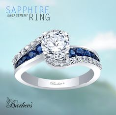 Barkev's Blue Sapphire Engagement Ring - 8017LBS