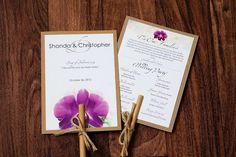 Purple Passion Orchid Destination Beach by PalmLeafInvitations