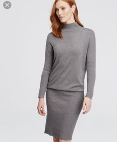 d36a8bc590 Ann Taylor Mock Turtleneck Sweater Dress Size Large Tall  fashion  clothing   shoes