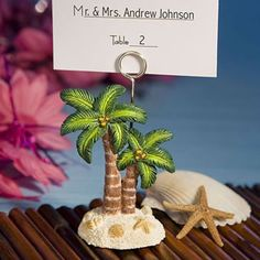 Palm tree place cards