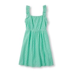 Girls Sleeveless Lace Dress - Blue - The Children's Place