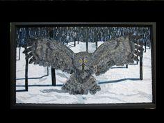 """Grey Owl"" Fine Art Mosaics by Lorna Ball"
