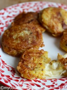 Rectas Colombianas Aborrajados - Ripe Plantain Fritters  Fried, smashed and then sandwiched with cheese, dipped in batter and fried again. OMG
