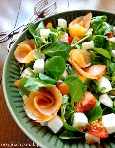 Caprese Salad, Cobb Salad, Dinner With Friends, Cantaloupe, Spinach, Salads, Food And Drink, Low Carb, Fruit