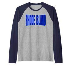 Raglan Baseball Tee, Rhode Island, Usa, Amazon, Tees, Long Sleeve, Sleeves, Mens Tops, T Shirt