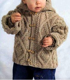 Кофточка с капюшоном для детей, вязание спицами