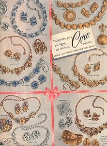 1955 LG D Ad Coro Jewelry