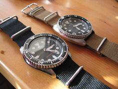 Seiko SKX007 and Seiko 6309-7040