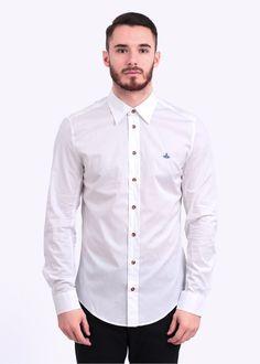 Vivienne Westwood Mens Alternate Button Shirt - White