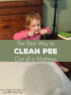 This is the very BEST way to clean pee out of a mattress, and, thankfully, it only takes two ingredients, which you probably already have in your home!!