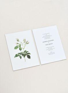 wedding invitation for andrea & neil / paper & type.