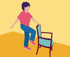Chair Exercises, Balance Exercises, Stretching Exercises, Sciatica Exercises, Knee Exercises, Fitness Exercises, Pcos, Fitness Senior, Senior Workout