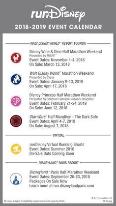This 2018 runDisney race calendar is a tad bit depressing. Which races are going on your calendar? Disney Races, Run Disney, Disney Tips, Walt Disney World, Disney Running, Disney 10k, Disney Princess Half Marathon, Disney Marathon, Running Half Marathons