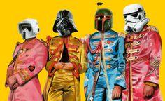 Beatles & Star Wars #Urban Art #Pop Art