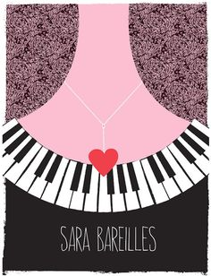 Screenprinted tour poster for Sara Bareilles by strawberryluna. Available in our Etsy shop! $ 25.00 (* Please note our posters are NOT a printable or DIY craft project. Thank you! *)