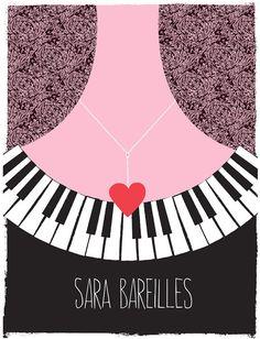 LOVE this great print!!  Rock Gig poster  Sara Bareilles Tour Poster  by strawberryluna, $25.00