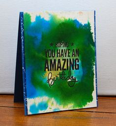 2 cards: Watercoloring with Inktense and Distress Refills
