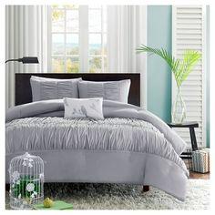 Haley Comforter Set - Grey