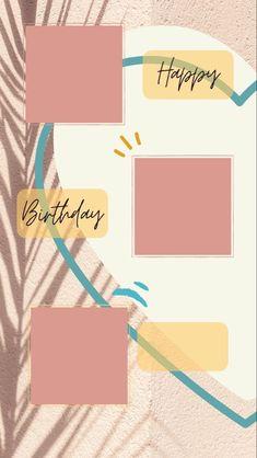 Happy Birthday Template, Happy Birthday Frame, Happy Birthday Quotes For Friends, Happy Birthday Posters, Happy Birthday Wallpaper, Birthday Posts, Birthday Frames, Happy Birthday Images, Birthday Collage