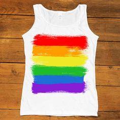 LGBTQIA+ Flag -- Women's T-Shirt/Tanktop