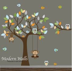 Children Wall Decals For NurseryTree with by Modernwalls on Etsy, $129.00