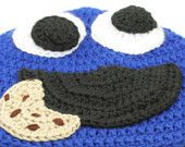 cute crocheted cookie monster hat (and other Sesame Street characters)