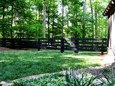 Back 4 board wood fence and gate