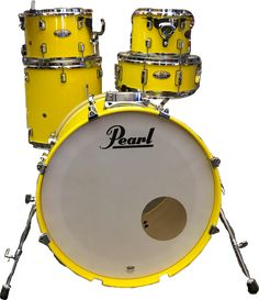 Yellow / Drums/ pearl drums / music