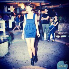 Sfilata Peut-être al molo9cinque 30/08/2014 #peut #peutetre #abito #vestito #dress #sfilata #fashion #blu #neoprene #frappa #handmade #artigianale #madeinitaly #fattoamano #diy