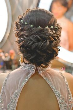 Pretty Mermaid-Esque Updo - 50 Half Up Half Down Hairstyles for Everyday and Party Looks - The Trending Hairstyle Indian Wedding Hairstyles, Party Hairstyles, Bride Hairstyles, Down Hairstyles, Trendy Hairstyles, Wedding Hairstyles For Girls, Bridal Hair Buns, Bridal Braids, Bridal Hairdo