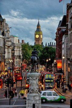 Trafalgar Square, London.