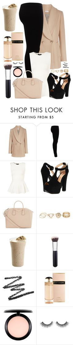 """""""#18"""" by oneandonlyfashion ❤ liked on Polyvore featuring Gestuz, Luichiny, Givenchy, Morphe, Prada and MAC Cosmetics"""
