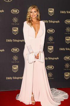 Australian rep for Miss Universe 2014, Tegan Martin arrives at the 2016 Dally M Awards at Star City on September 28, 2016 in Sydney, Australia.