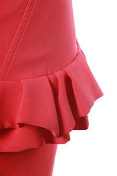 Robe bustier rouge à volants Maje à emprunter