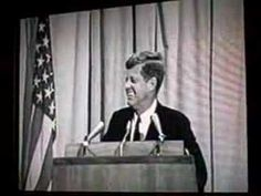 November 21, 1963: Pres. John F. Kennedy jokes during his speech at a dinner in Houston during his Texas tour, the night before he is assassinated in Dallas. [45-second Video]. #JFK #JFK50