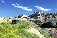 Badlands Loop State Scenic Byway  This approximately 30-mile drive on SD 240 cuts through the middle of breathtaking formations of Badlands National Park.    As the byway follows the natural contours of the Badlands escarpment, it also weaves in and out of the native grasslands full of hundreds of species of plants and animals. Scenic overlooks, with names like Seabed Jungle, Pinnacles and Prairie Wind, offer outstanding photo opportunities.