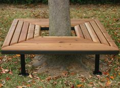 Wrap these Geometric Benches Around the Trees