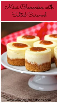 Mini Cheesecakes with Salted Caramel