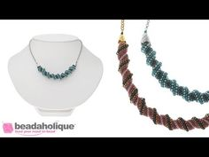 Whirlpool Necklace - Beading Projects & Tutorials - Beading Resources   Beadaholique
