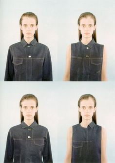 Echoform, Fall–Winter 1999–2000,Hussein Chalayan, Memory Denim. Photograph Marcus Tomlinson  Radical Fashion, ed. Claire Wilcox, V&A Publications