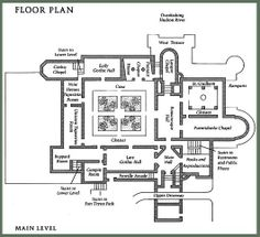 monastery floorplans | The Compleat Traveller: The Cloisters, Fort Tryon Park, Manhattan