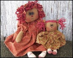 "Sis & Me - Rag Dolls 20"" &  8"" inch"