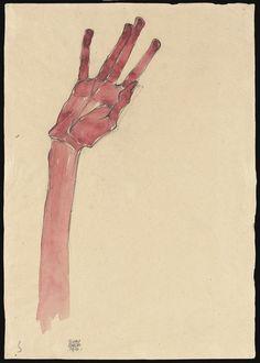 Hand-1910-Egon Schiele